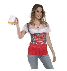 Travestimento T-shirt Tedesca dell'Oktoberfest donna per divertirsi e fare festa