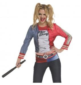 Costume T-shirt Harley Quinn donna per una serata ad Halloween