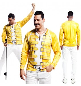 Travestimento T-shirt Freddie Mercury adulti per una serata in maschera