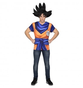 Travestimento T-shirt Dragon Ball Son Goku adulti per una serata in maschera