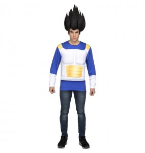 Travestimento T-shirt Dragon Ball Vegeta adulti per una serata in maschera