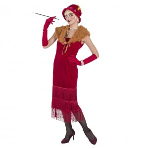 Travestimento Charleston anni 20 Rosso donna per divertirsi e fare festa