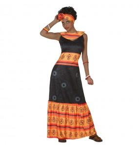 Travestimento Africana donna per divertirsi e fare festa