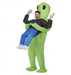 Costume da Alieno rapitore gonfiabile per uomo