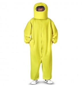 Costume da Among Us giallo per uomo
