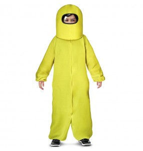Costume da Among Us giallo per bambino