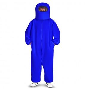 Costume da Among Us blu per uomo