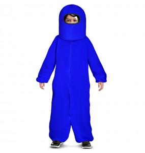 Costume da Among Us blu per bambino