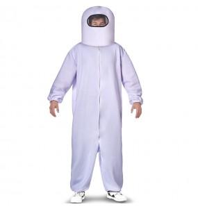 Costume da Among Us bianco per uomo