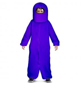 Costume da Among Us viola per bambino