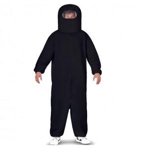 Costume da Among Us nero per uomo