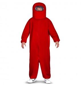 Costume da Among Us rosso per uomo