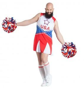 Costume da Cheerleader travestito per uomo