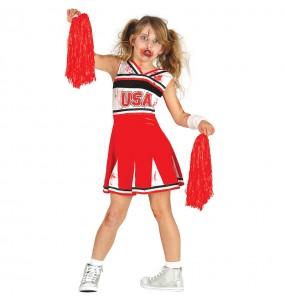 Vestito Cheerleader zombie bambine per una festa ad Halloween