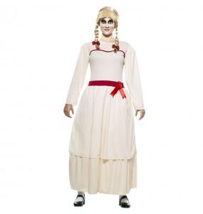 Costume Annabelle Halloween donna per una serata ad Halloween