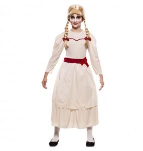 Vestito Annabelle Halloween bambine per una festa ad Halloween