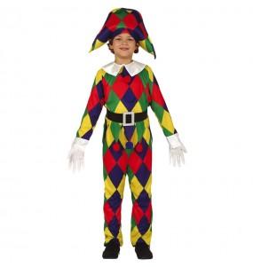 Travestimento Arlecchino Multicolore bambino che più li piace
