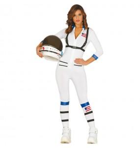 Travestimento Astronauta americana donna per divertirsi e fare festa