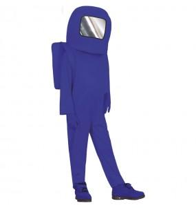 Costume da Astronauta Among us blu per bambino
