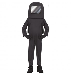 Costume da Astronauta Among us nero per bambino