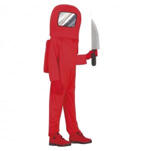 Costume da Astronauta Among us rosso per bambino