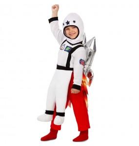 Travestimento Astronauta su razzo bambino a cavallucio che più li piace