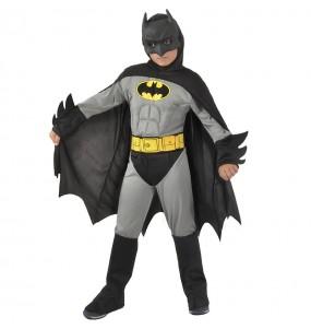Costume da Batman muscoloso grigio per bambino