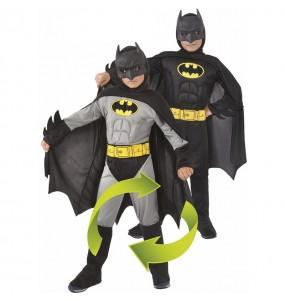 Costume da Batman muscoloso reversibile per bambino
