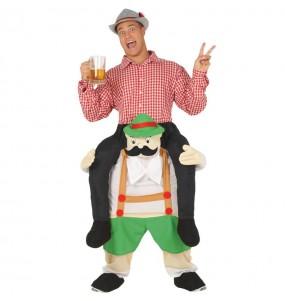 Travestimento adulto Bavarese Oktoberfest a cavallucio per una serata in maschera