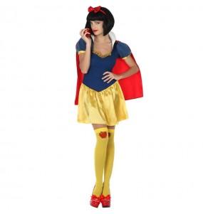 Costume da Biancaneve con mantello per donna