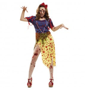 Costume Biancaneve Zombie donna per una serata ad Halloween