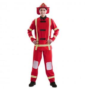 Costume da Pompiere rosso per uomo