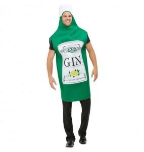 Travestimento Bottiglia di Gin adulti per una serata in maschera
