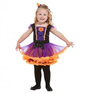 Costume da Strega arancione con tutù per neonato