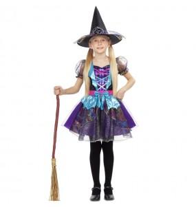 Vestito Strega scintillante bambine per una festa ad Halloween