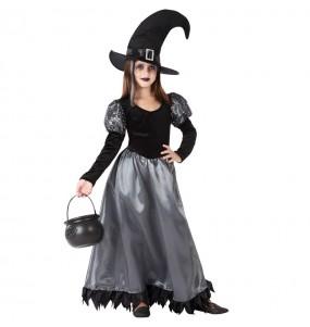 Vestito Strega incantata bambine per una festa ad Halloween