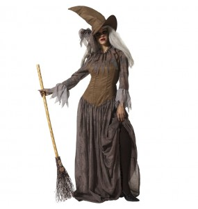 Costume da Strega marrone per donna