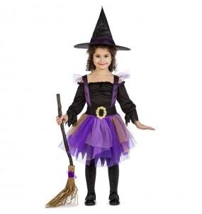 Costume da Strega viola con tutù per bambina