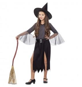 Vestito Strega argentata bambine per una festa ad Halloween