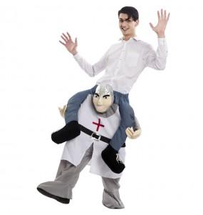 Travestimento adulto Cavaliere Medievale a cavallucio per una serata in maschera