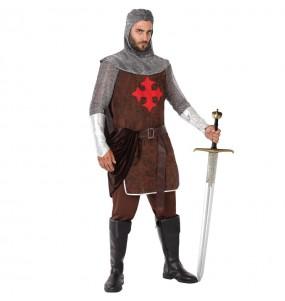Travestimento Cavaliere Medievale delle Crociate adulti per una serata in maschera