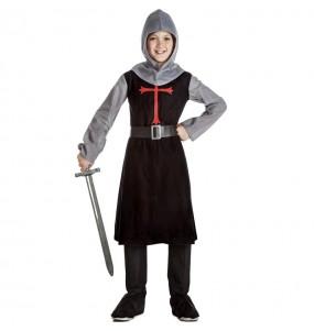 Costume da Cavaliere medievale nero per bambino