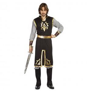 Costume da Cavaliere templare dorato per uomo
