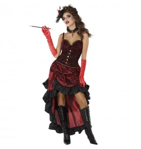 Travestimento Cabaret Rosso donna per divertirsi e fare festa