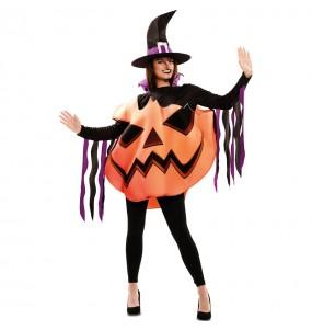 Costume Strega Zucca donna per una serata ad Halloween