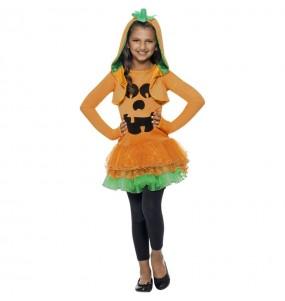 Costume da zucca con tutù per bambina