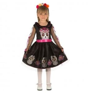 Costume da Teschio del giorno dei morti per bambina