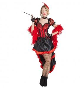 Travestimento Ballerina di Can Can Burlesque donna per divertirsi e fare festa