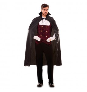 Travestimento Mantello Nero Vampiro adulti per una serata ad Halloween