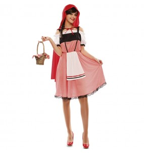 Costume da Cappuccetto Rosso della foresta per donna